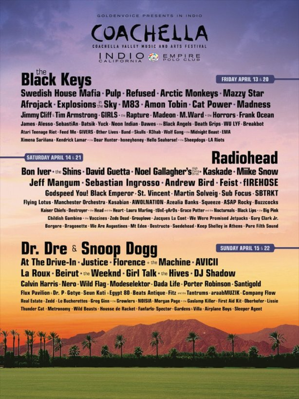 Coachella 2012 Lineup Announcement