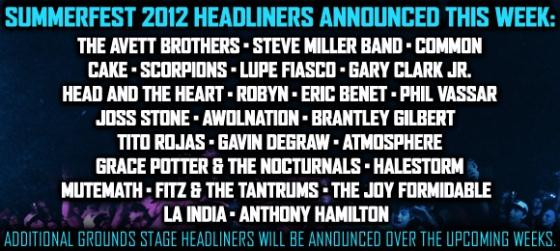 Summerfest 2012 rolls out headliners
